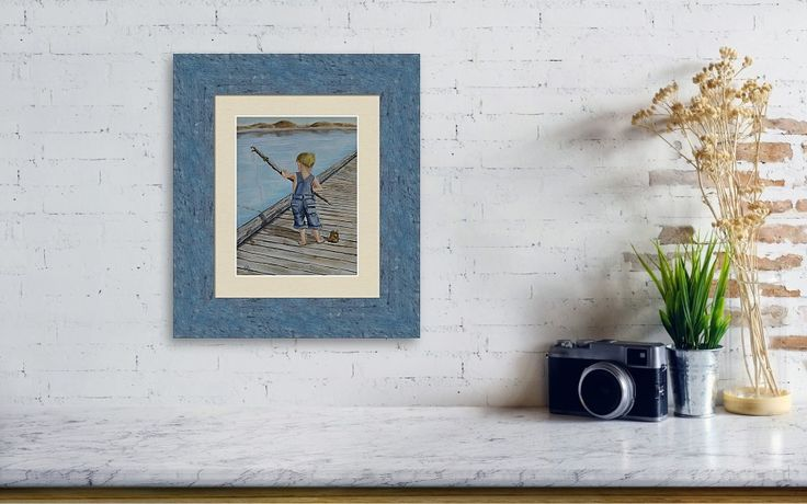 Junior's Fishing Pole Prints......This is just my vision with playing with frame colors, styles, sizes....Go ahead and play with the amazing selection of frames from @FineArtAmerica   https://fineartamerica.com/products/juniors-amazing-fishing-pole-kelly-mills-framed-print.html