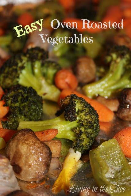 One of our newly-found favorites! Easy Oven Roasted Vegetables This is a healthy, gluten-free recipe for scrumptious vegetables roasted in your oven. Some nights we like to make this with small pi…