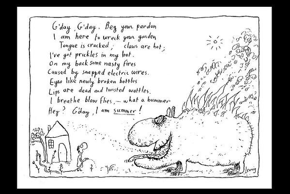 Summer - cartoonist Michael Leunig.