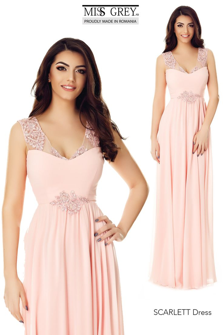 Crafted from delicate embroidered lace adds regal charm to this splendid Scarlett Dress: http://bit.ly/scarlett-long-dress