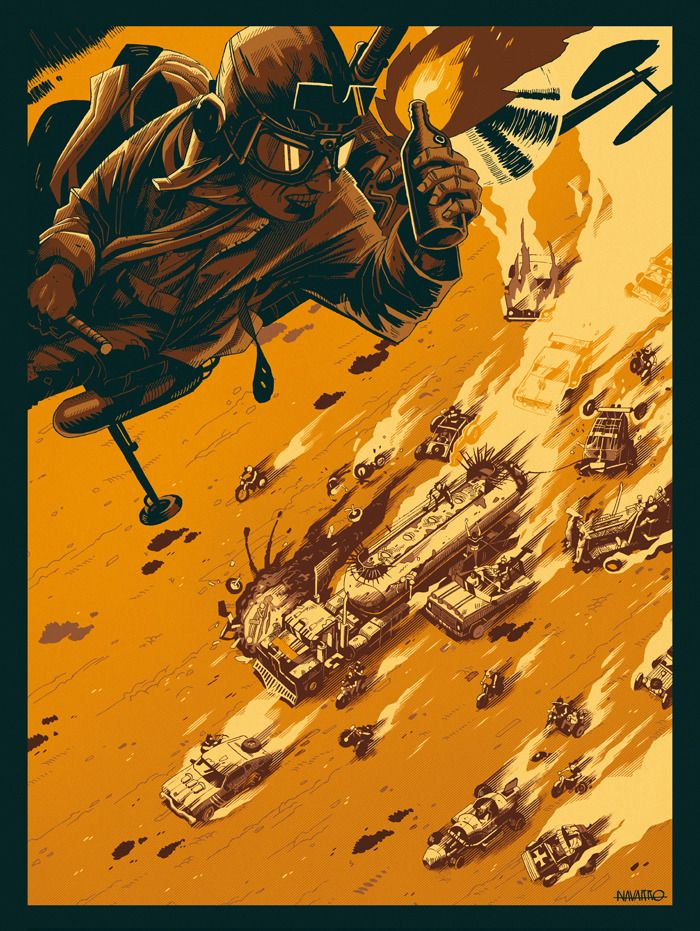 Mad Max 2: Gasoline - Created by Coke Navarro Limited edition prints available for sale only at Bottleneck Gallery.