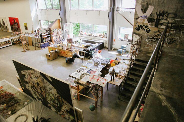 Freunde von Freunden — Jonas Burgert — Artist, Studio, Weissensee, Berlin — http://www.freundevonfreunden.com/workplaces/jonas-burgert/