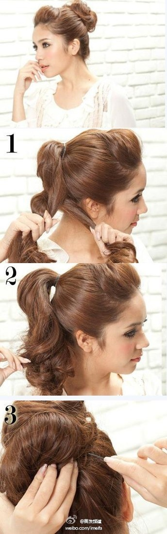 Pretty bun.Hair Beautiful, Medium Lengths, Medium Length Hairs, Favorite Hairstyles, Hairstyle Tutorials, Prom Hairstyles, Hairstyles Tutorials, Hair Style, Style Hairstyles