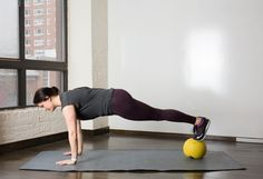 6. Reverse Med Ball Plank #medicineball #abs #workout http://greatist.com/move/core-exercises-medicine-ball?utm_source=Sailthru&utm_medium=email&utm_content=story3_image&utm_campaign=daily_newsletter_2016-02-29_mails_daily_new_header?utm_source=pinterest&utm_medium=social&utm_campaign=onsiteshare You're gonna have a ball with these.