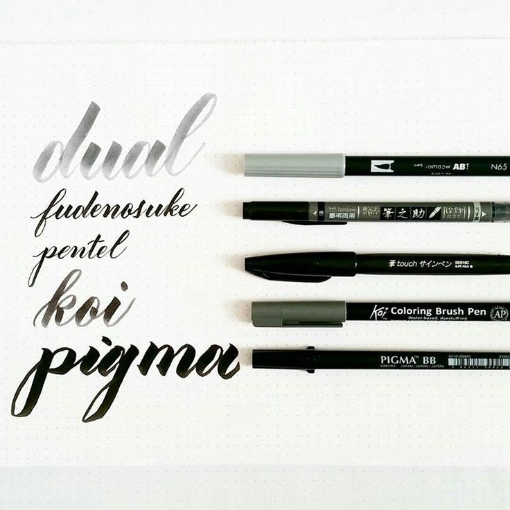 Brush pens here are five currently in my