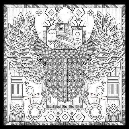 Página para colorear de águila elegante — Vector de stock