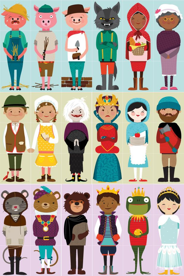 Fairy Tale Olliblocks Character | Illustrations by Alma Loveland
