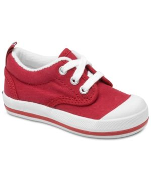 Keds Kids Shoes, Little Boys or Little Girls Graham Lace-up Sneakers - Red 5.5W