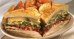 Grilled Chicken Club from BJs Restaurant and Brewhouse