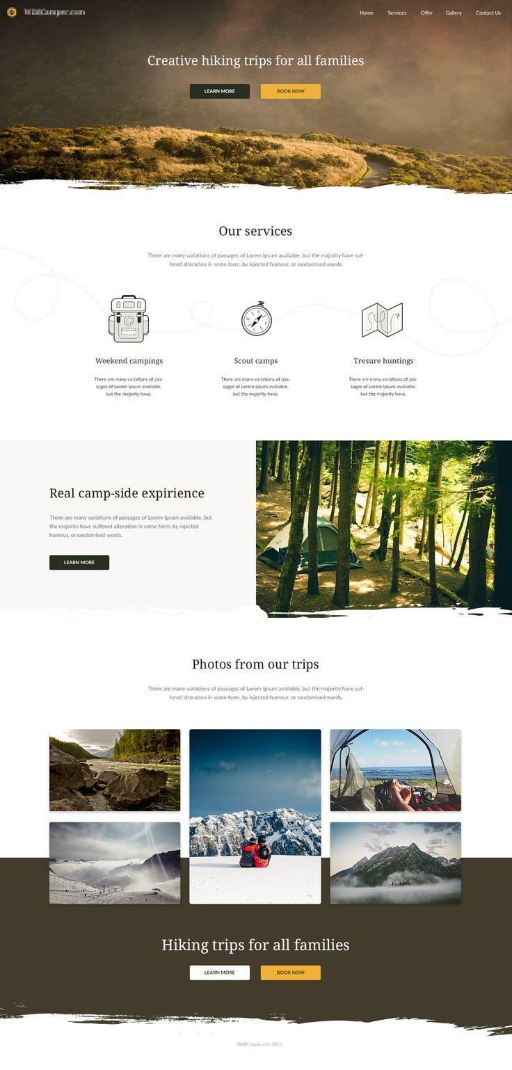 Hiking Trips Landing Page