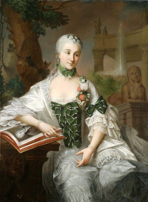 Izabela Branicka, sister of king Stanisław Augustus. Marcello Bacciarelli, c.1757