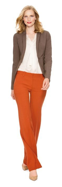 Color Coded - Create this look with our Collection Flap Pocket Jacket, Silky Bow Blouse and Modern Trouser Pants from THELIMITED.com