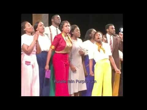 Prince Tribute - The Color Purple Play - Purple Rain (Lyrics Cover) #RIP - Wow!  The day he passed away the cast delivered this Amazing tribute during their 8pm performance in NYC.  4/21/2016