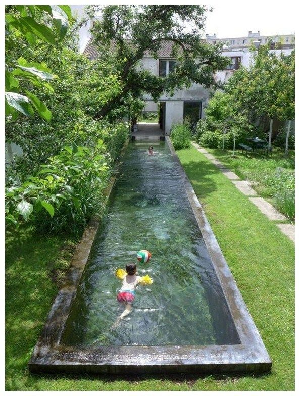 56 Fabulous Side Yard Garden Design Ideas 37 Small Pool Design Backyard Pool Swimming Pool Designs