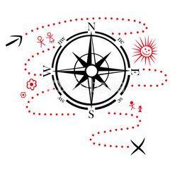 Kompass, Wandern, Wanderkarte