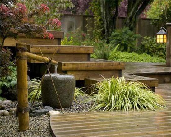 Tsukubai water fountains japanese garden design ideas for Water garden design