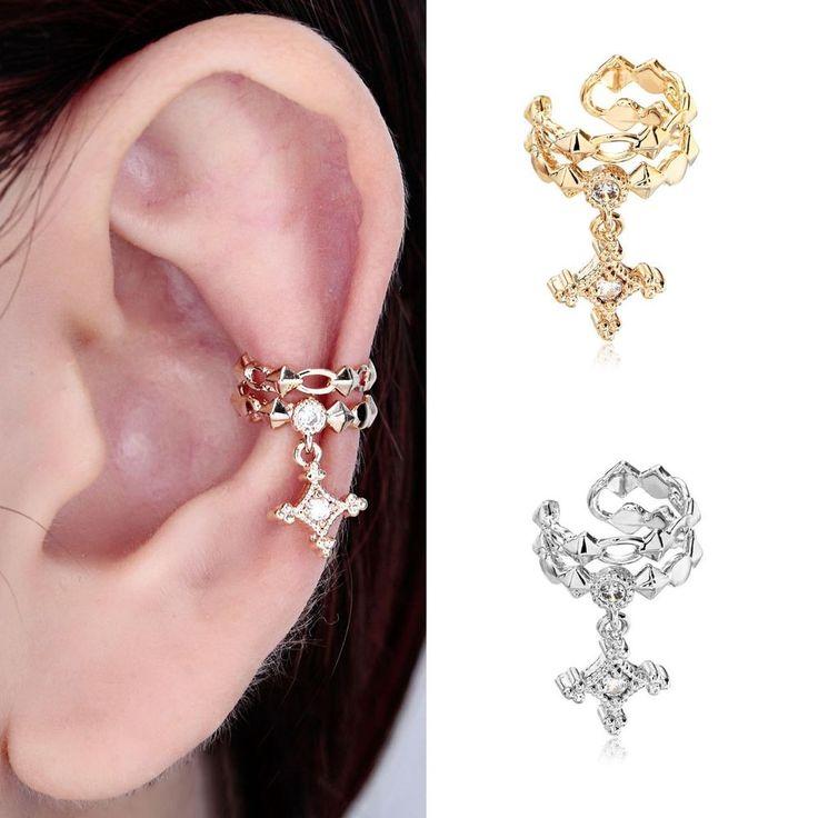 115 besten ear cuff earring bilder auf pinterest ear. Black Bedroom Furniture Sets. Home Design Ideas