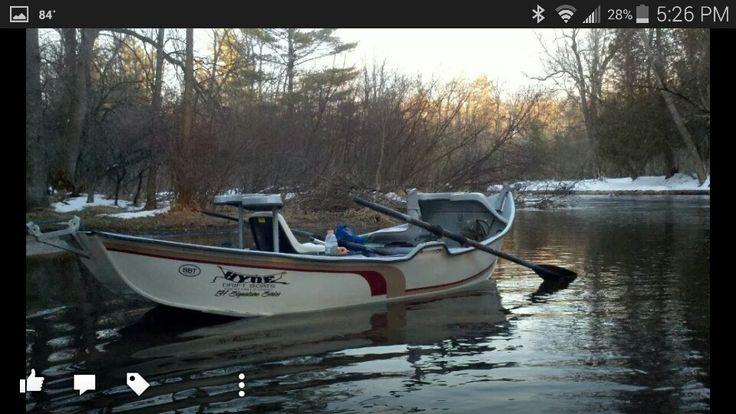 Hyde drift boat on pierre marquette fly fishing for Drift boat fishing