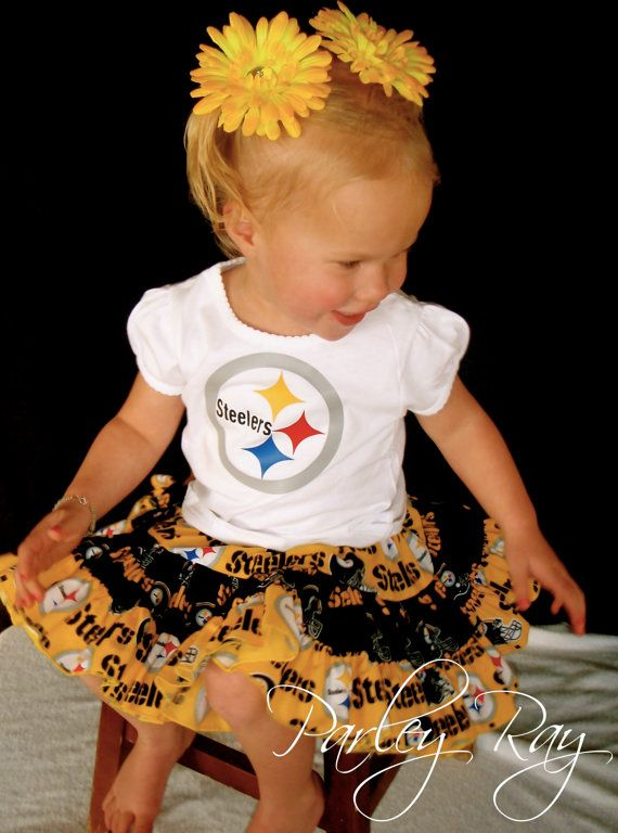 Parley Ray NFL Steelers Twirling Skirt Cheerleader by ParleyRay