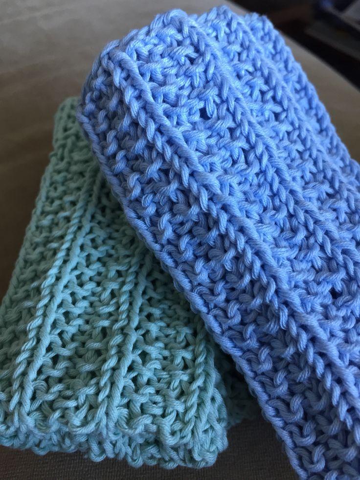 Nye kluter strikket i bomullsgarn:)
