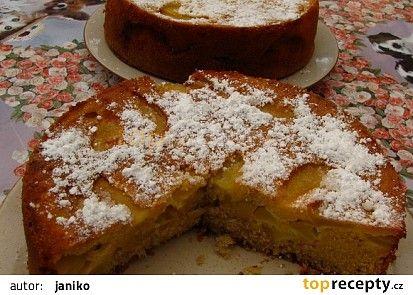 Jablečný koláč naruby dle časopisu Tina recept - TopRecepty.cz