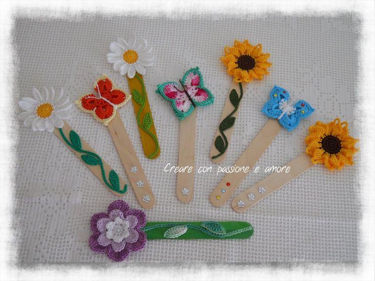 Segnalibri ad uncinetto by https://www.facebook.com/CreareconpassioneeamoreCreazioni/ … … … … … … … #crochet #handmade #bookmark #lemaddine #book