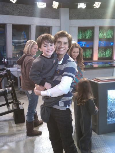 Lab Rats  aww Billy Unger is holding younger chase!