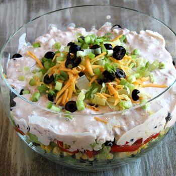 Tex Mex Layered SaladLayered Tacos, Layered Salad, Recipe Girls, Salad Recipes, Tex Mex, Food, Tacos Salad, Mex Layered, Texmex