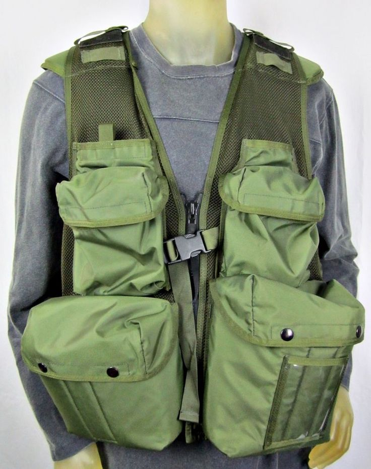 Vintage Vested Interest Photographers Vest Fishing Military Grade Multi Pocket #VestedInterest #PhotographerVest