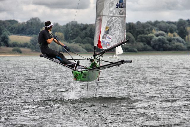Moth sailing dinghy. Can't wait to do this one day.