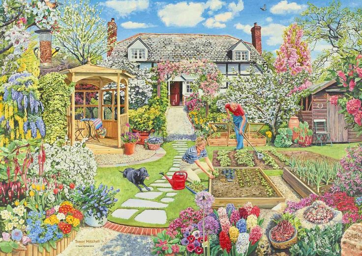 Gardening World - Spring 1000pc Jigsaw Puzzle | Adult Puzzles – All Jigsaw Puzzles UK