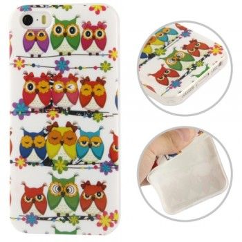 iPhone 5/5S Cases : Cool Owl Pattern TPU Case for iPhone 5 & 5S