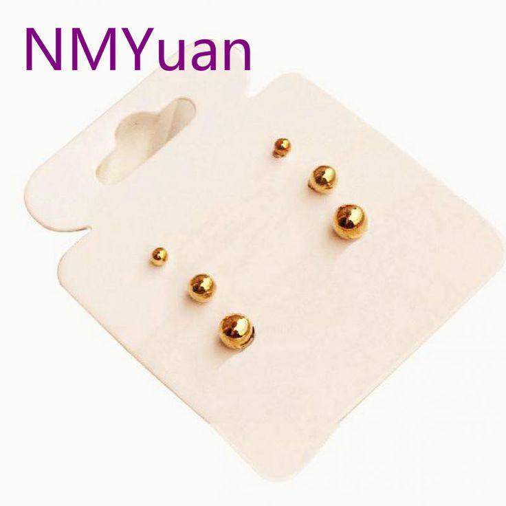 """Cheap Jewelry """"card Packs"""" Simple Little Ball Three-piece Earrings Wholesale Fashion"""