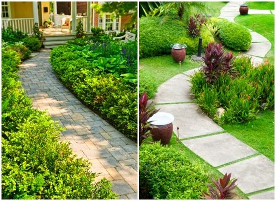 17 best images about front sidewalk ideas on pinterest for Paved front garden designs
