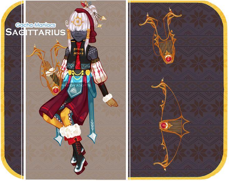 [Gacha Maniacs] Sagittarius Adopt by paimon-adopts on DeviantArt