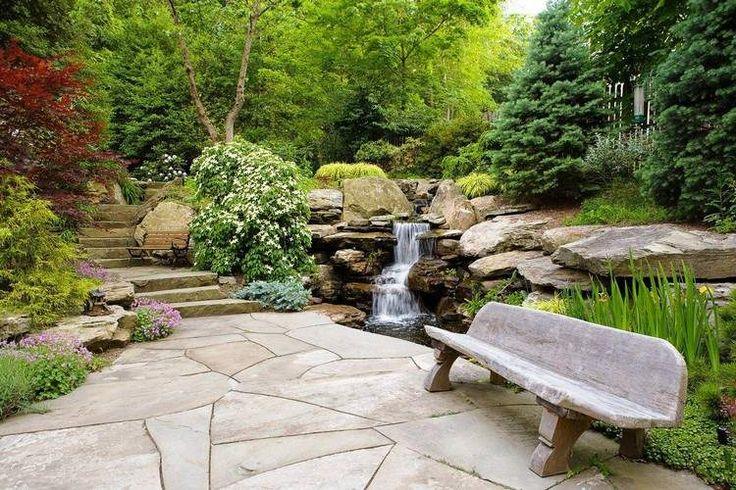 1000 id es sur le th me cascade bassin sur pinterest for Bassin et cascade de jardin