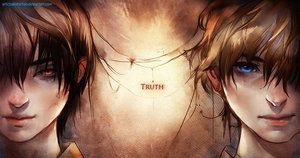 Truth or False by sakimichan http://sakimichan.deviantart.com this kind of remind me of nick gautier from CON series by sherrilyn kenyon