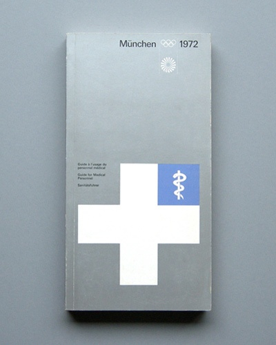 Munich 72 Olympics First Aid booklet designed by Otl Aicher