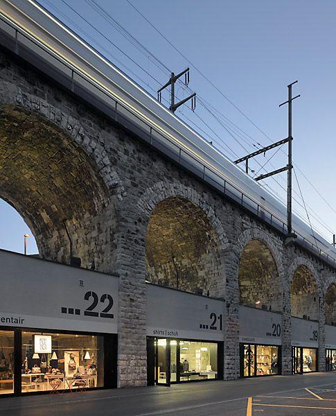 Best use of viaduct! EM2N Architekten BSA ETH, Zürich