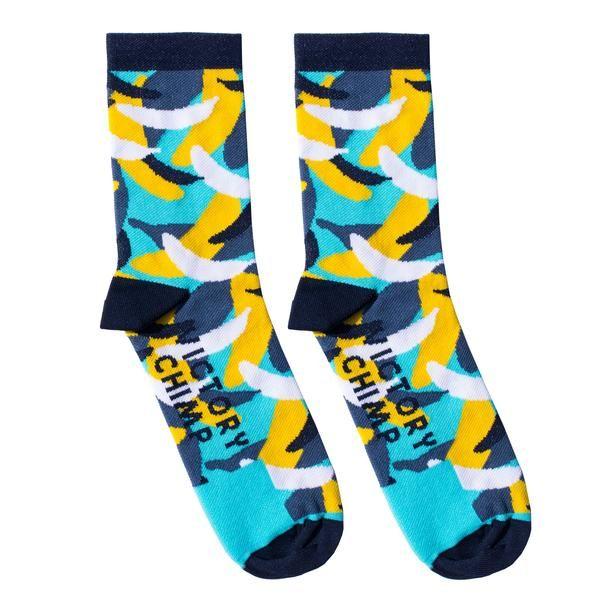 Banana Camo Cycling Socks (Blue)