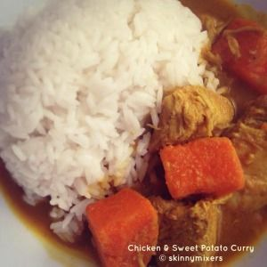 skinnymixer's Chicken and Sweet Potato Curry   Print Author: skinnymixer's Recipe type: Curry Ingredients Wet Paste:- 3 tbsp ground coriander 1 tsp ground cumin 1-7 small red dried chillis (adjust based on spice preference, I used 3) 1.5 tsp dried turmeric 3 cloves garlic, peeled 3 tsp onion powder 2 tbsp Malaysian Meat Curry...Read More »