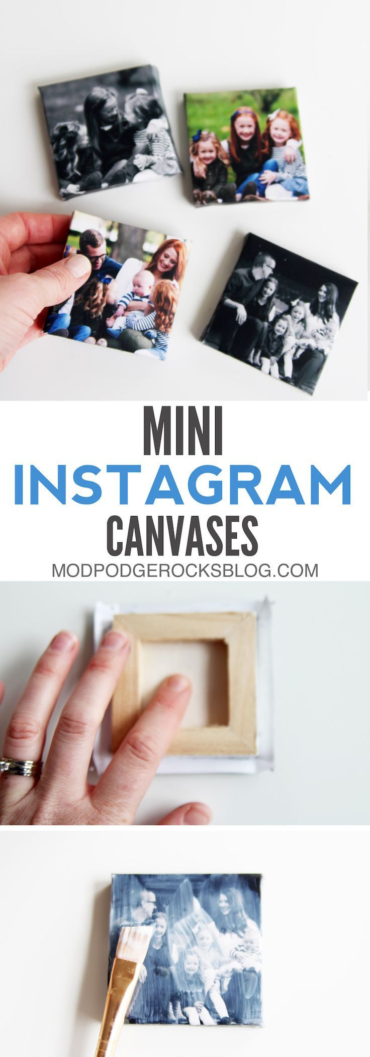 Scrapbook paper dollar general - How To Make Instagram Mini Canvases