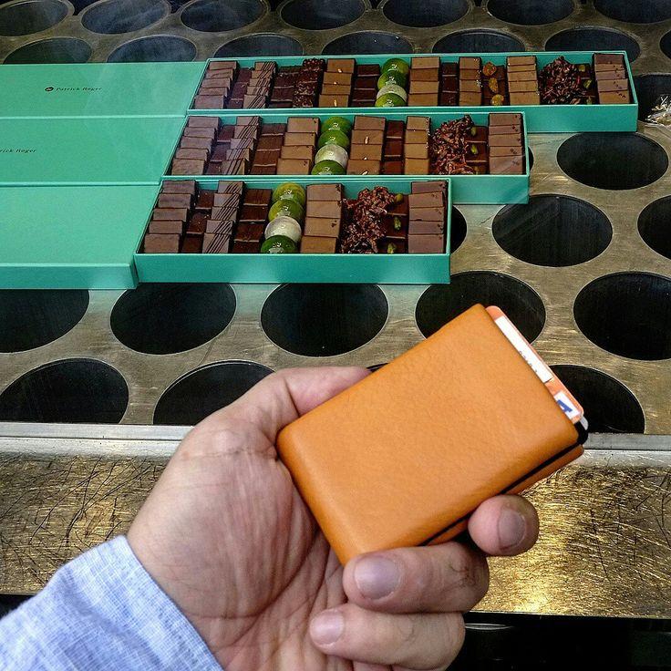 Nero Wallet  - Orange Nappa Leather - Patrick Roger - Paris
