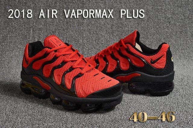 on sale 84074 1137f Mens Nike Air Vapormax Plus KPU TN + 2018 October Red Black ...