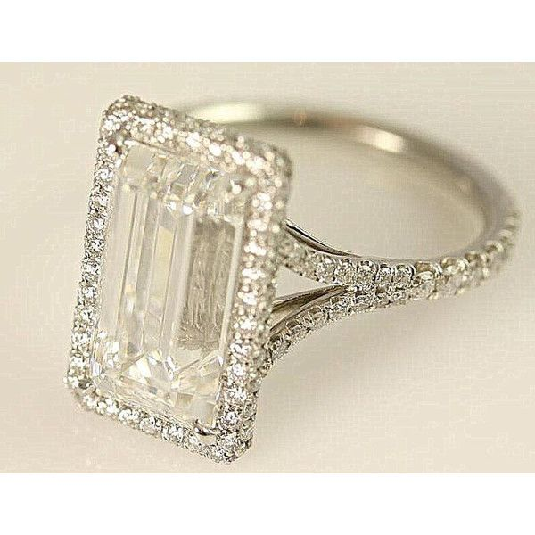 GIA Certified 5 Carat Emerald Cut Diamond Engagement Ring
