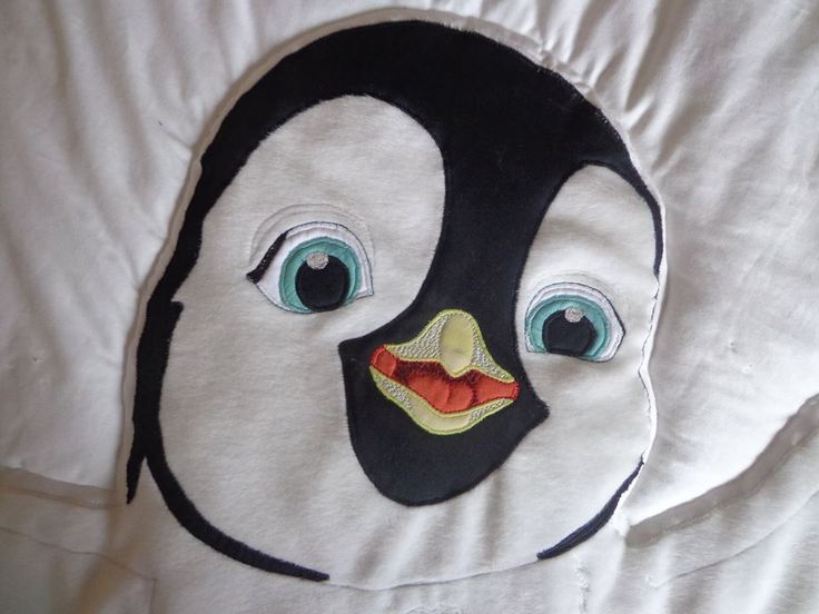cute penguin - quilt bedspread