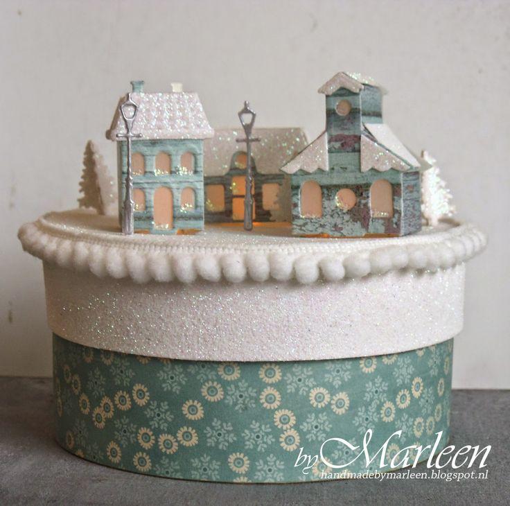 byMarleen: Winter Wonderland cadeaudoosje met lichtjes