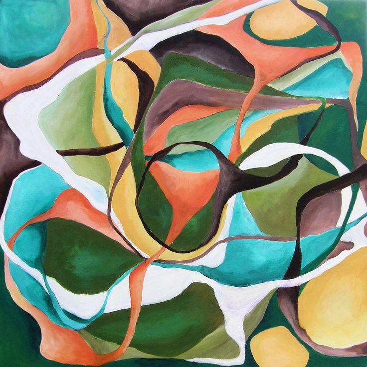 Movement-3 by Celina Schou (Acrylics 120x120)