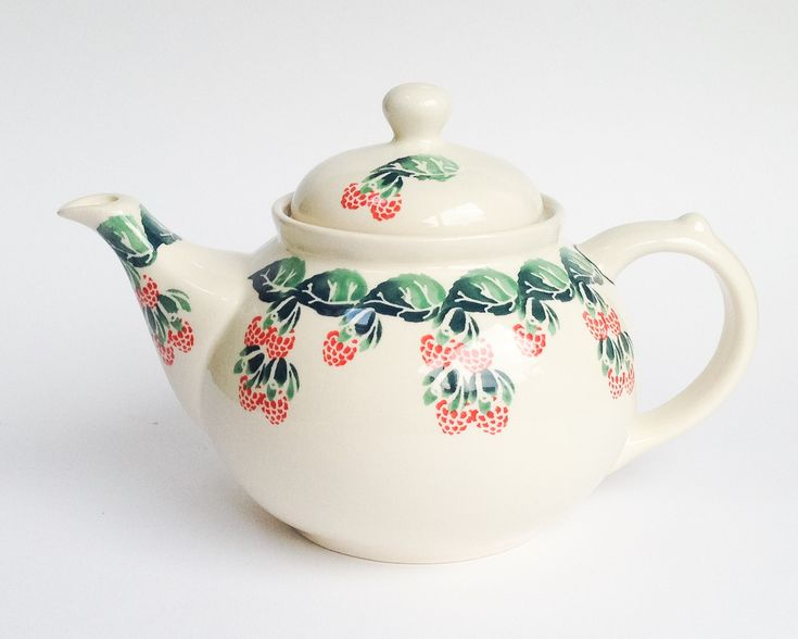 Polish Pottery - Teapot 1.25l #polishpottery #bunzlau #Boleslawiec #pottery #handmade #potterycorner