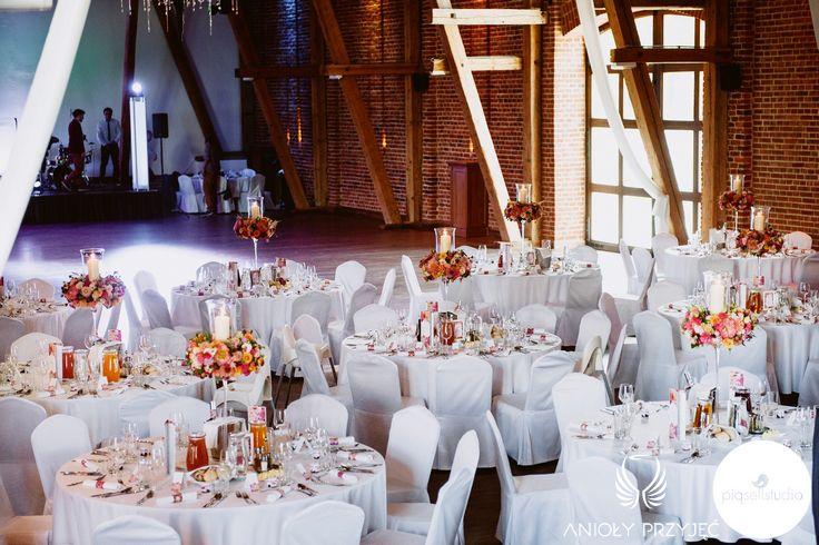 3. Fuchsia Orange Wedding, centerpieces / Wesele fuksjowo-pomarańczowe, Dekoracje weselne, Anioły Przyjęć